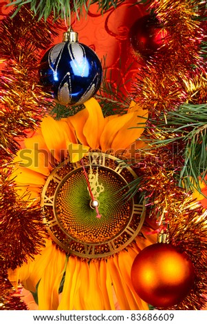 Christmas and New Year original concept - stock photo