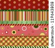 Christmas and New Year seamless pattern. Merry christmas wallpaper. Raster version - stock photo