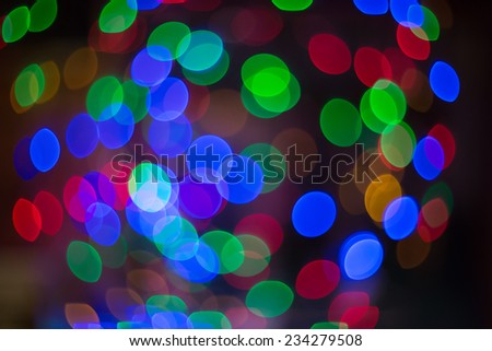 Christmas and New Year the background bokeh - stock photo
