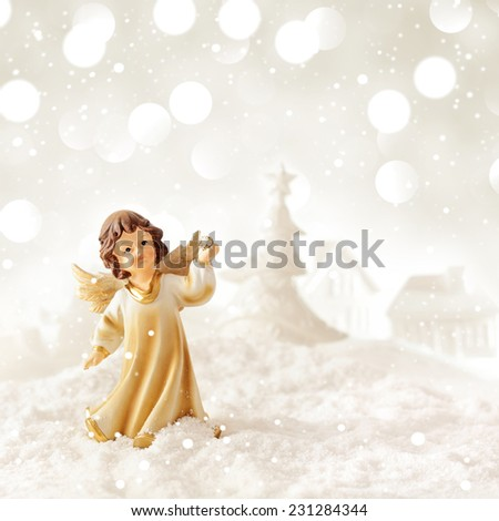 christmas angel - stock photo