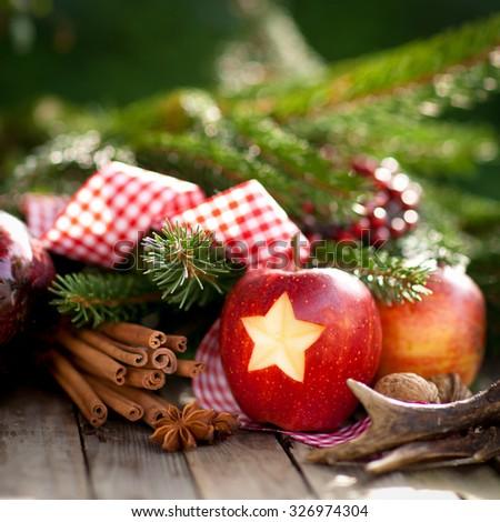 Christmas apple - stock photo