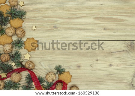 Christmas Arrangement Background - stock photo