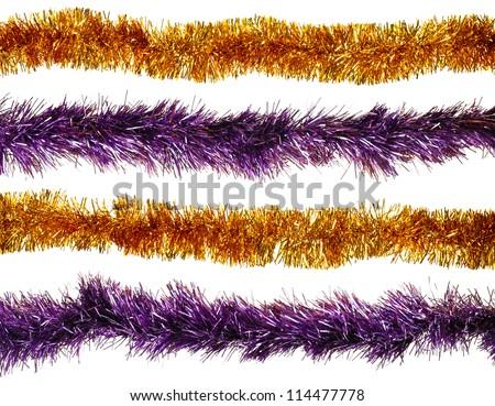 Christmas artificial tinsel decoration - stock photo