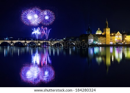 Christmas atmosphere in Prague, Czech Republic - stock photo
