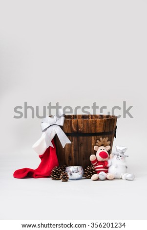 Christmas baby/pet backdrop - stock photo
