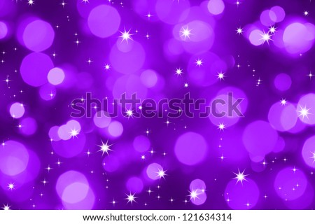 Christmas  backdrop of violet dark lights with stars - stock photo