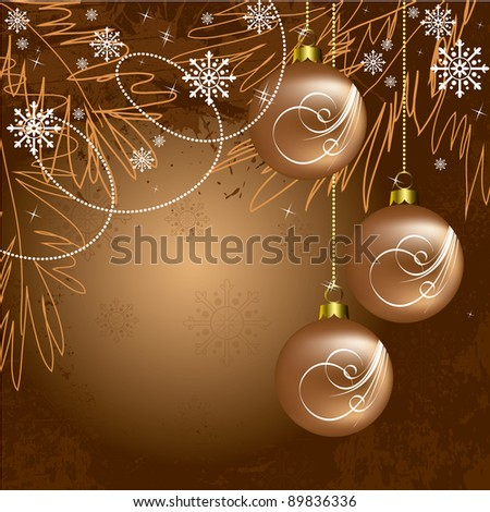 Christmas Background. Abstract Illustration.