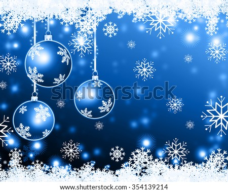 Christmas background blue balls
