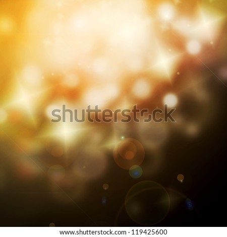 Christmas Background Bokeh, out of focus lights - stock photo
