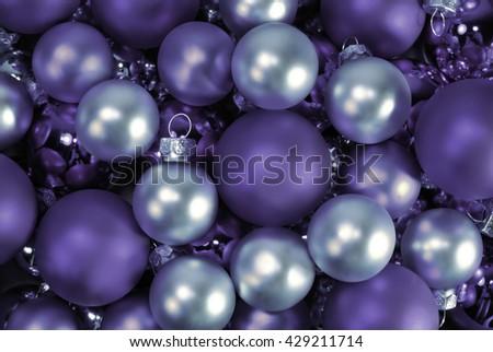 Christmas background. Christmas balls - stock photo