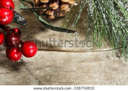 Christmas background / Christmas Border , selective focus - stock photo