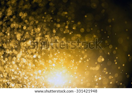 Christmas background Festive abstract background with bokeh defocused lights and stars - stock photo