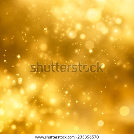 Christmas background. Festive xmas abstract background with bokeh defocused lights and stars - stock photo