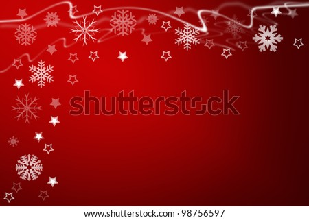 christmas background for your designs with stars and snowflakes