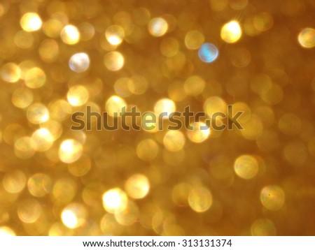 Christmas background. Gold Festive xmas bokeh background - stock photo