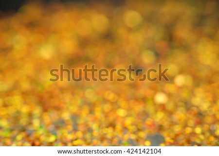 Christmas Background. Golden Holiday Abstract Glitter Defocused Background With Blinking Stars. Blurred Bokeh  - stock photo