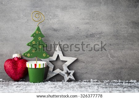 Christmas background, greeting card. Decoration.
