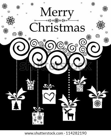 Christmas background.  Illustration - stock photo