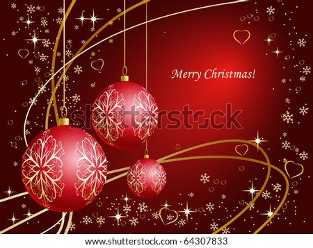 Christmas background in red shades - stock photo