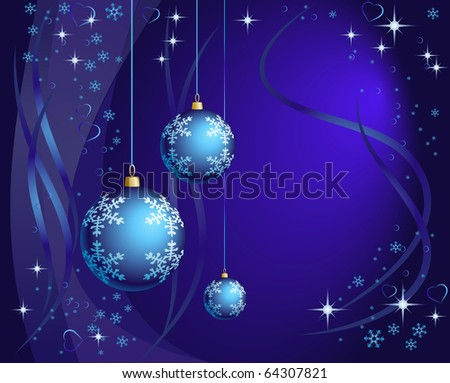 Christmas background in violet shades - stock photo