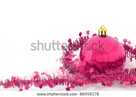 Christmas background isolated - stock photo