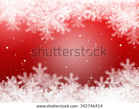 Christmas background. New Year background. Red winter holiday  - stock photo