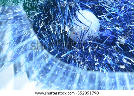 Christmas background, New Year, lights , Christmas tree decoration