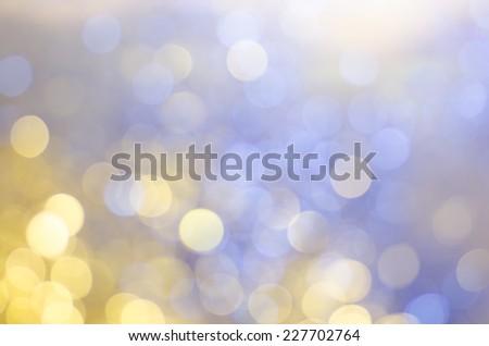 Christmas background of bokeh lights - stock photo