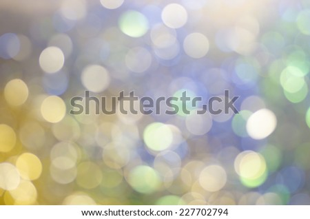 Christmas background of bokeh lights - stock photo