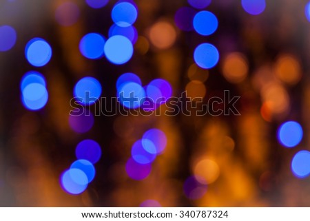 Christmas background of colored Christmas lights - stock photo
