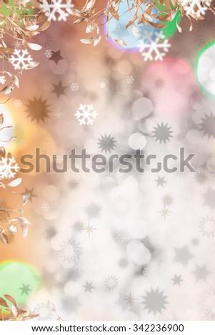 Christmas background of colored Christmas lights - stock photo