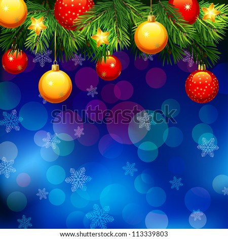 Christmas background - raster version