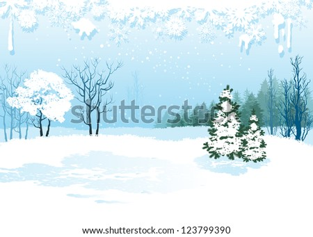 Christmas background. Raster version of vector illustration