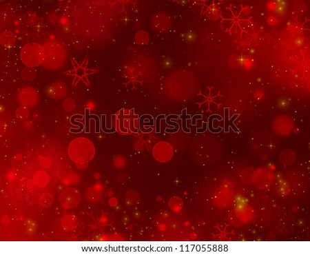 christmas background red - stock photo