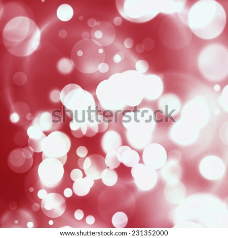 Christmas Background. Red  Holiday Abstract Glitter Defocused Background With Blinking Stars. Blurred Bokeh - stock photo