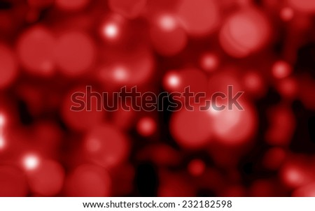 Christmas background red lights - stock photo