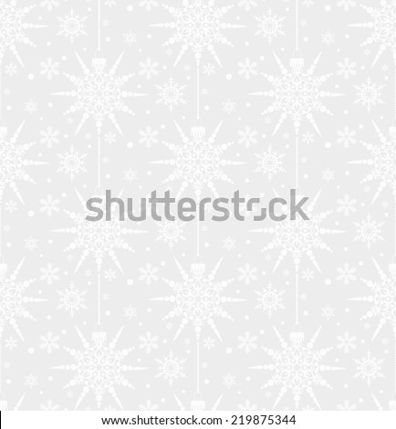 Christmas background seamless grey