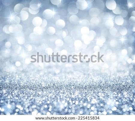 christmas background - shining glitter - heaven silver - stock photo