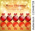 Christmas background with balls. Check my portfolio for vector version. - stock photo