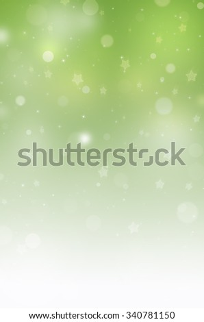 Christmas background with blur green lights - stock photo