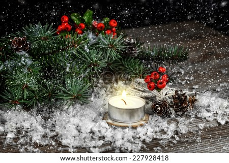 Christmas background with Christmas decorations.  - stock photo