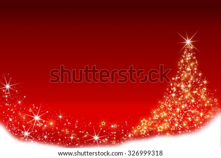 Christmas background with Christmas tree made of shiny stars