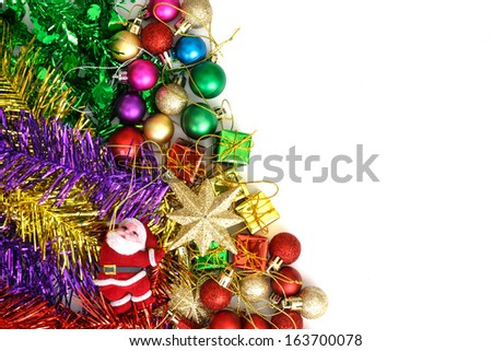 christmas background with isolated on white background