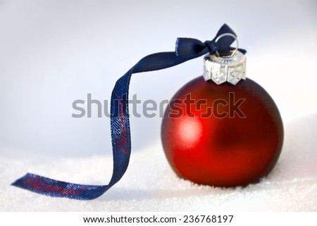 christmas background with red bauble