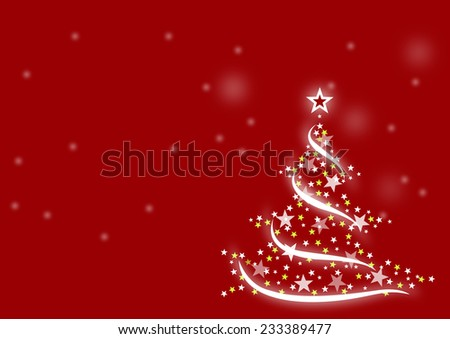 Christmas background with snow and tree, wish