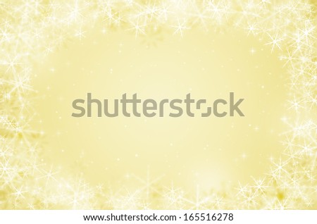 christmas background with snowflake and glitter. - stock photo