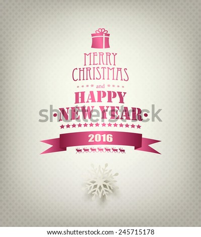 Christmas Background With Snowflake And Title Inscription - stock photo