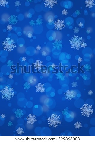 Christmas background with snowflakes . - stock photo