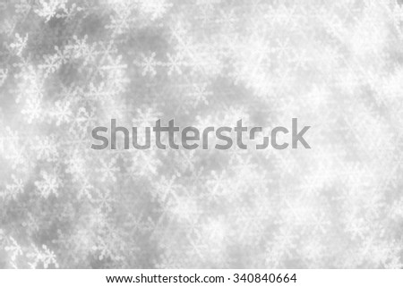 christmas background with snowflakes - stock photo