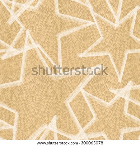 Christmas background with stars - seamless background - White Oak wood texture - stock photo
